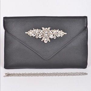 Handbags - Rhinestone Detail Clutch